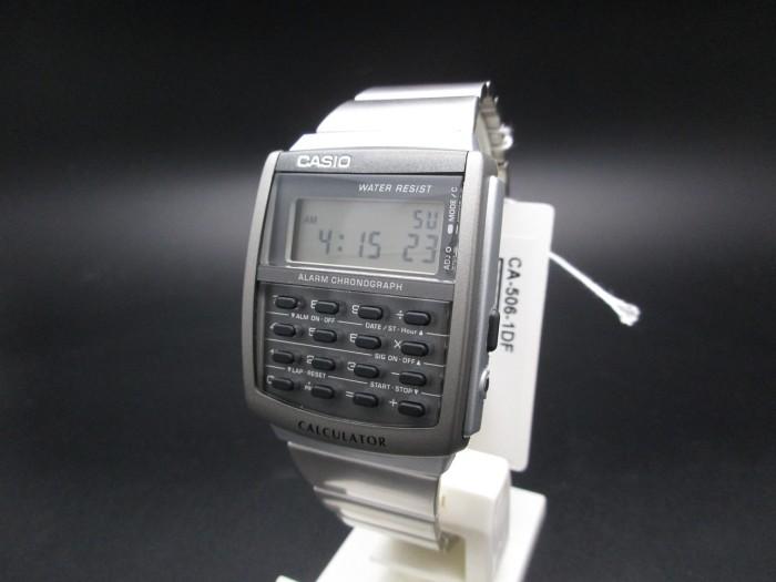 harga Casio Calculator Kalkulator Jam Tangan Rantai Silver Ca-506-1 Original Tokopedia.com