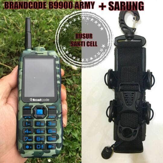 harga Brandcode b9900 army + sarung hp outdoor / 2 sim card / power bank Tokopedia.com