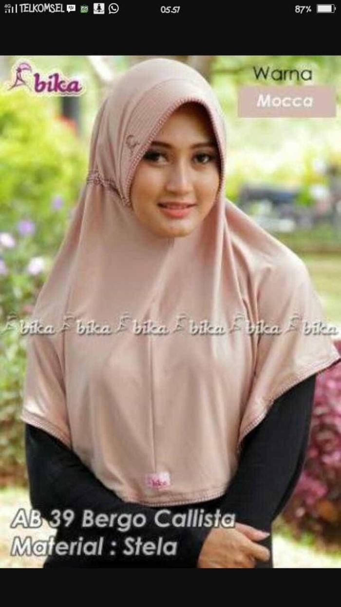 Jual Hijab Abika Bergo Calista Jilbab Serut Murah