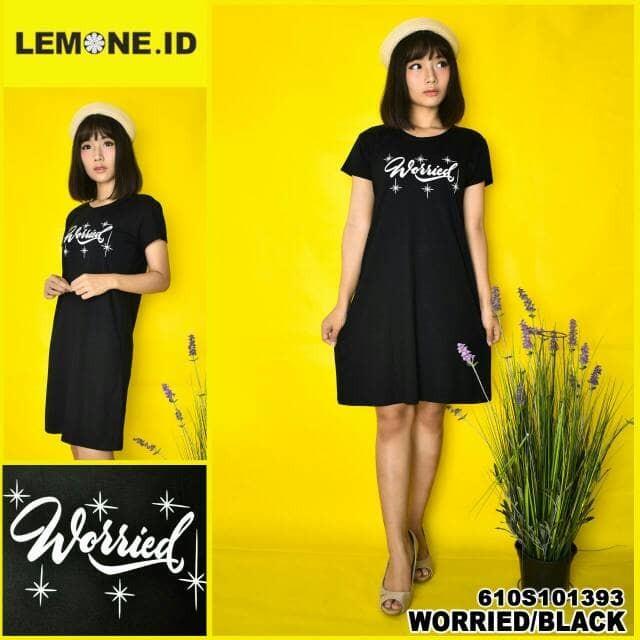 Flavia Store Dress Lengan Pendek FS0617 - NAVY / Gaun Baju Terusan Wanita / Rnlea. Source · Lemone - baju dress kaos wanita premium 610s101393 hitam