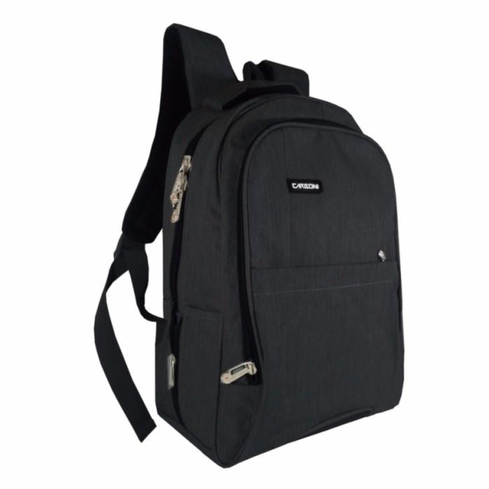 Jual Carboni Tas Ransel RA0016 Original Backpack 17 - Black - Jack ... b94b37dc35