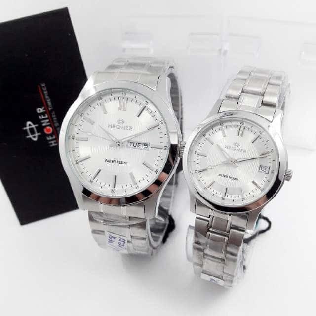 Jual Jam Tangan Hegner 1528 Silver White Jam Couple Original  Harga ... 28a22ea4d5