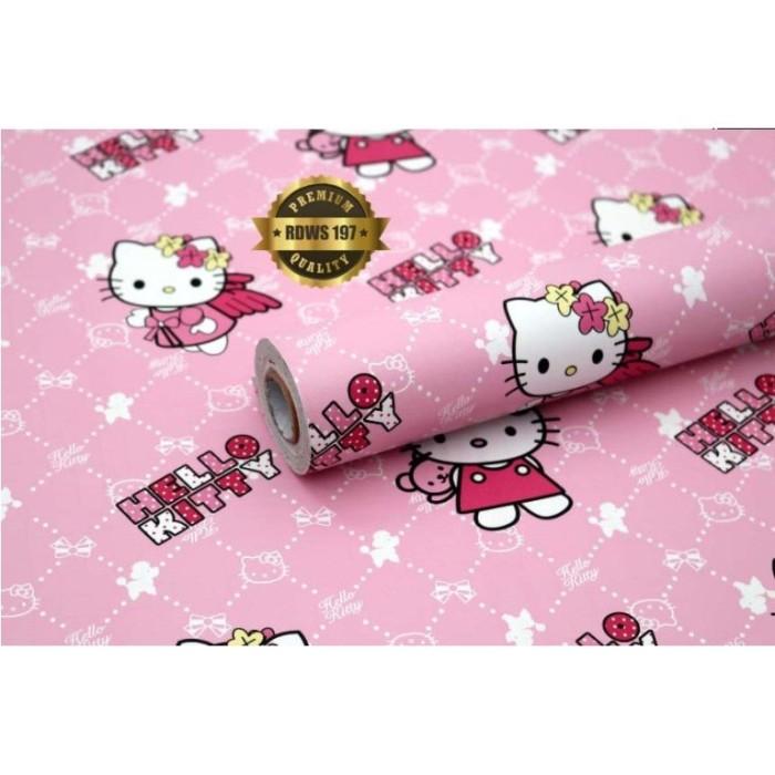 Jual Stiker Dinding Wallpaper Stiker Hello Kitty Dekorasi Kamar Anak