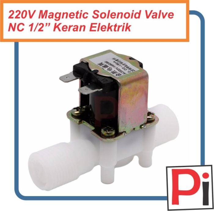 harga Electric solenoid valve ac 220v nc water in out 1/2  kran elektrik Tokopedia.com
