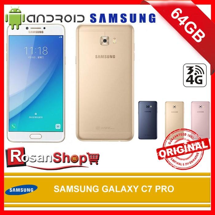 SAMSUNG GALAXY C7 PRO 64GB RAM 4GB Original 100% Garansi 1thn - Merah Muda
