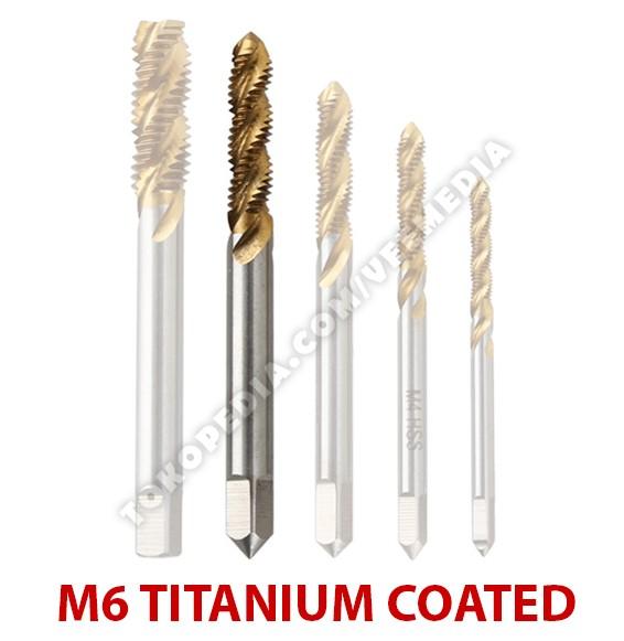 harga Tap drill bits m6 titanium coated / mata bor pembuat ulir baut Tokopedia.com
