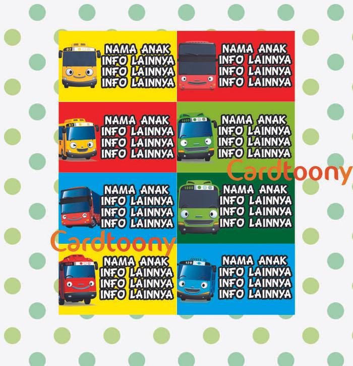 Jual Sticker / Stiker Label Nama Tayo The Little Bus Rogi
