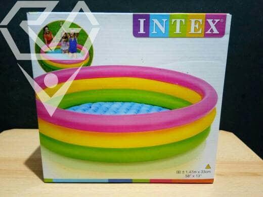Jual Kolam Renang Plastik Karet Intex Ukuran 1 47m X 33cm Kab Lamongan Rejeki Agung Group Tokopedia