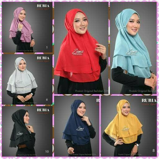 harga Hijab kerudung jilbab instan khimar rubiah daily aisyah kcb Tokopedia.com