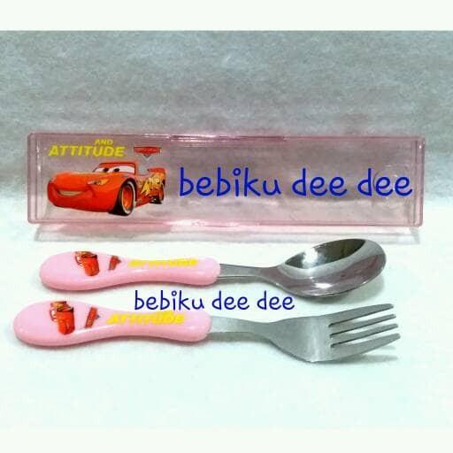 Sendok Makan Set/Table Ware/Peralatan Makan Anak/Sendok Set Karakter