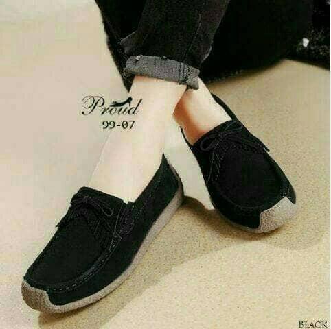 harga Sepatu flat ps02 hitam sandal wanita kets boot sneaker heels wedges Tokopedia.com