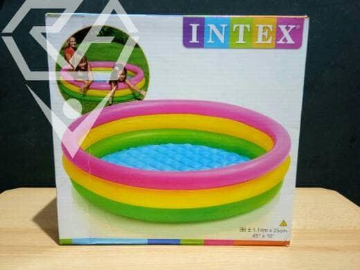 Jual Kolam Renang Plastik Karet Intex Ukuran 1 14m X 25cm Kab Lamongan Rejeki Agung Group Tokopedia
