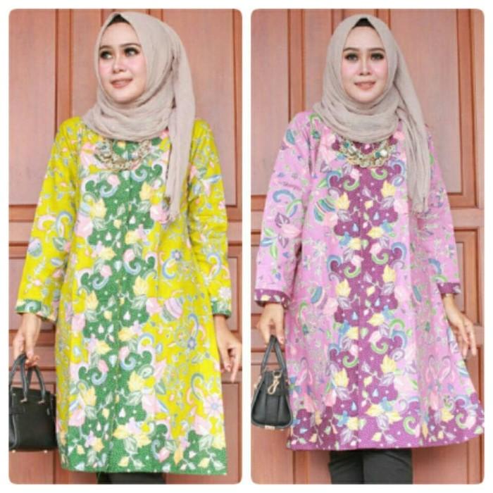 harga Tunik dress batik modern - baju hijab batik solo - de solo batik Tokopedia.com