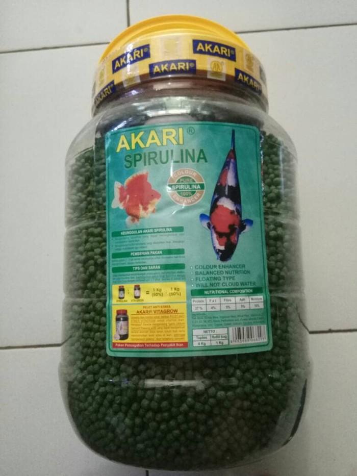 Jual Makanan Ikan Koi Pelet Akari Spirulina Hijau 4kg Kota