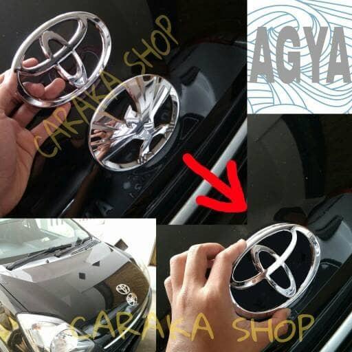 Foto Produk Emblem TOYOTA Depan Agya - Pengganti Emblem Bawaan dari Caraka Shop