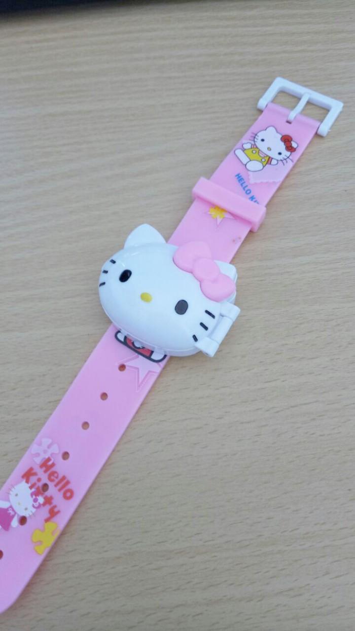 harga Jam tangan anak karakter hello kitty digital karet premium pink Tokopedia.com