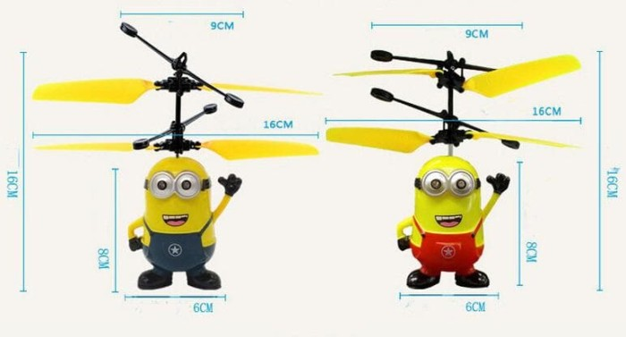 Jual Flying heli   helicopter Toy Mainan Anak Terbang Minion ... 27865130c5