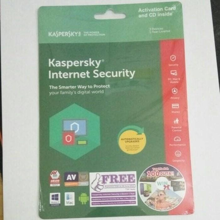 harga Kaspersky internet security / kis 2018 - 3pc 3user / 3 pc user Tokopedia.com