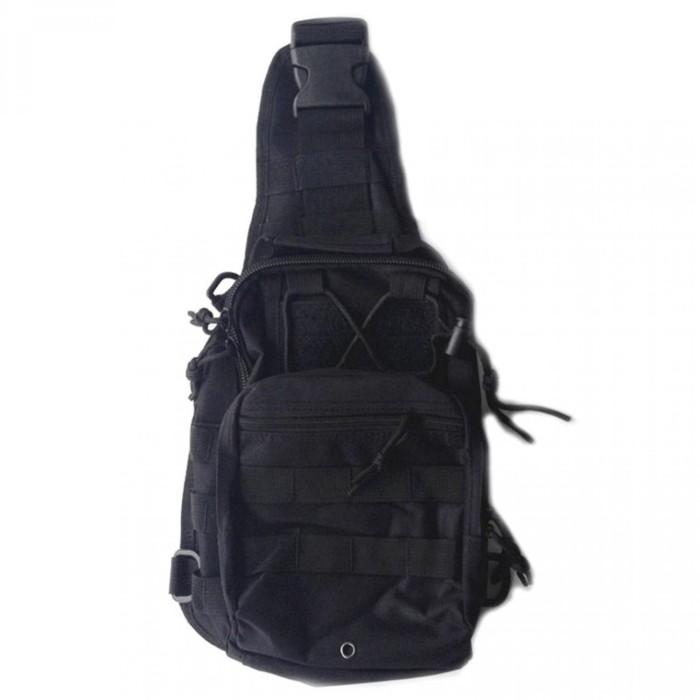 Tas Selempang Pria /sling Bag/tas Cowok /duffel Bag/tactical Backpack - Hitam