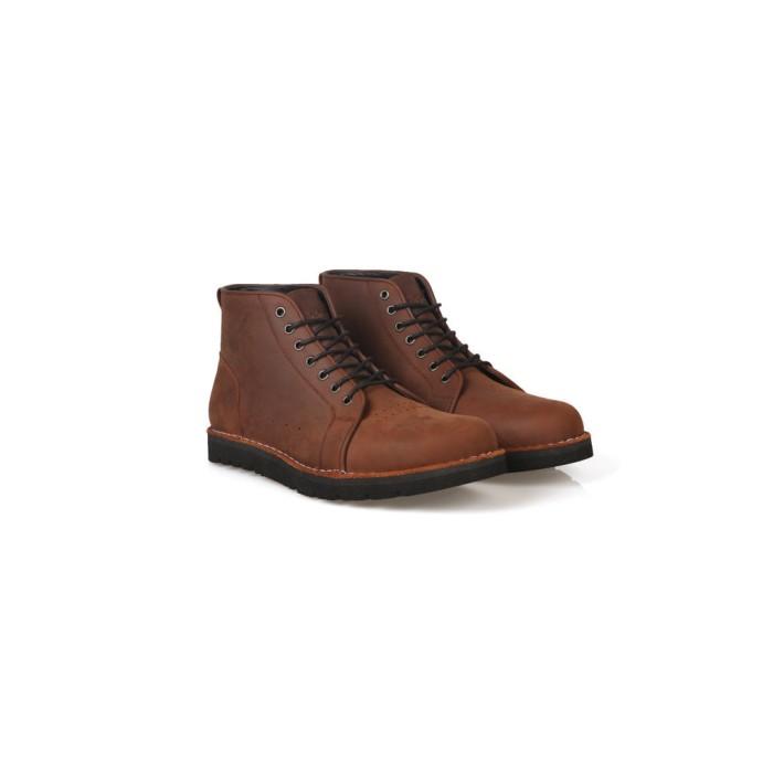 Foto Produk Sepatu Boots Kulit Asli - Vigos Bravo Darkbrown - 40 dari VIGOS COMPANY