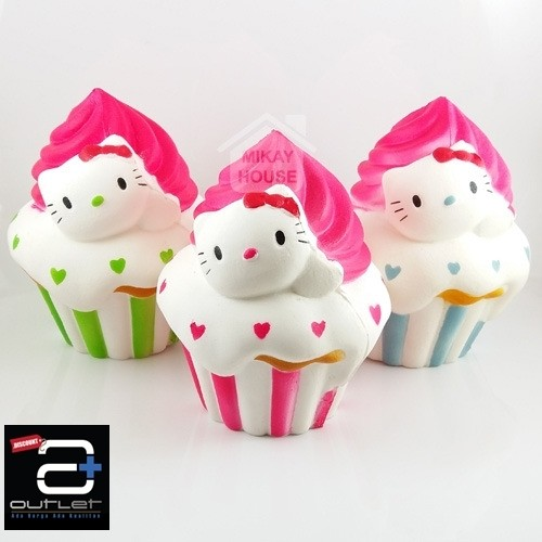 Squishy Hello Kitty Cupcake Squishy Jumbo Hellokitty Cup Cake