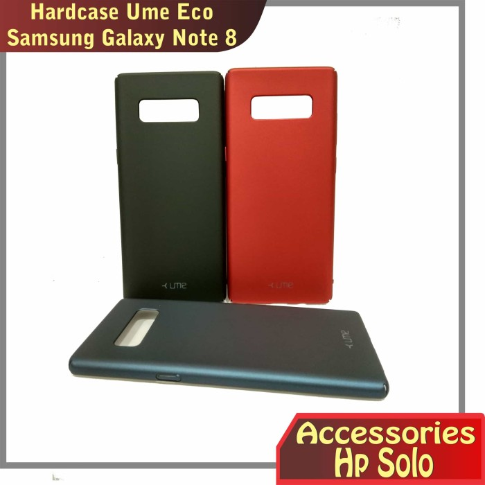 finest selection 326b6 745ba Jual Hardcase case cover samsung galaxy Note 8 Ume Eco - Navy - Accessories  Hp Solo | Tokopedia