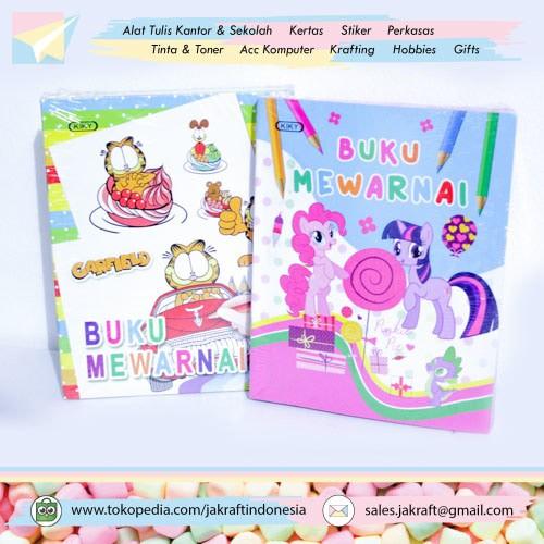 Jual Buku Gambar Mewarnai Anak My Little Pony Bonus 1 Random Dki