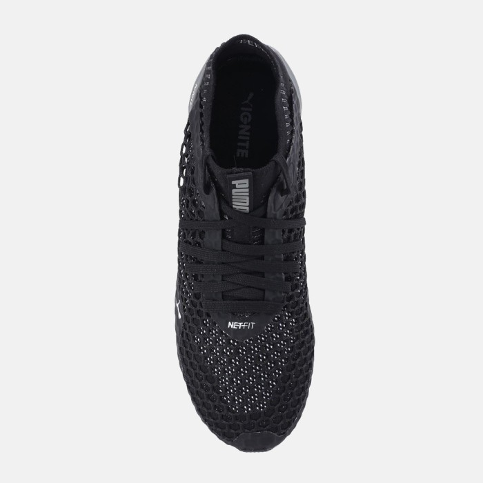 dc1db85d91a1 ORIGINAL Puma Ignite Netfit Sepatu Running Men Black Grey 190339-03