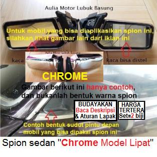 spion mobil sedan croum universal model lipat (set)