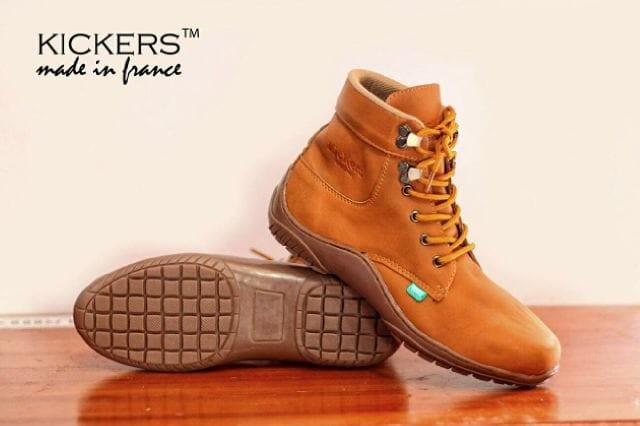 harga Sepatu boots pria kickers krs buk tan original handmade terbaru Tokopedia.com