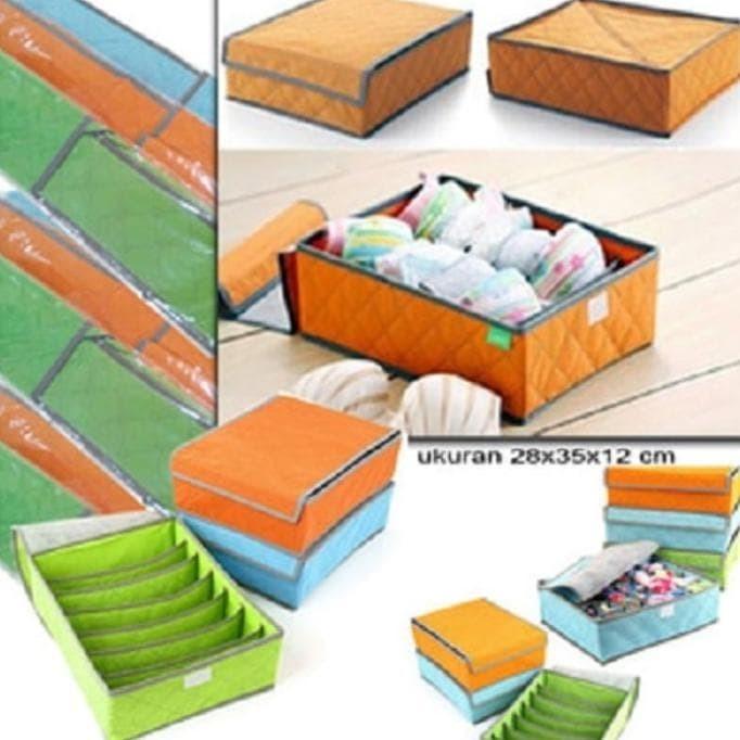 Foto Produk New Bra Underwear Storage Bag Box Shoes Bh Bra Baju Pakaian Celana dari Rasya-collection