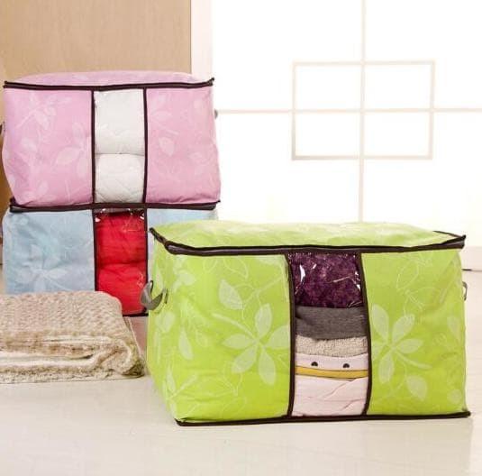 Foto Produk Hot New Storage Bag Flower Ukuran Jumbo Untuk Tempat Pakaian Bedcover dari Rasya-collection