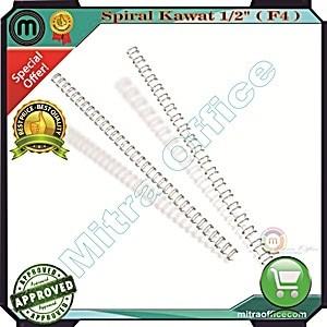 harga Spiral kawat 1/2 - (3:1, f4)/spiral plastik/wire bind/mesin jilid Tokopedia.com
