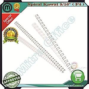 harga Spiral kawat 9/16 - (3:1, f4)/spiral plastik/wire bind/mesin jilid Tokopedia.com
