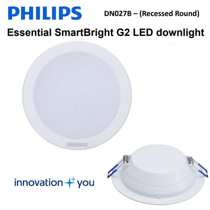 "Foto Produk Philips LED Downlight DN027B 4W 4"" - 4 Inch Lampu Plafon dari philipslampu"