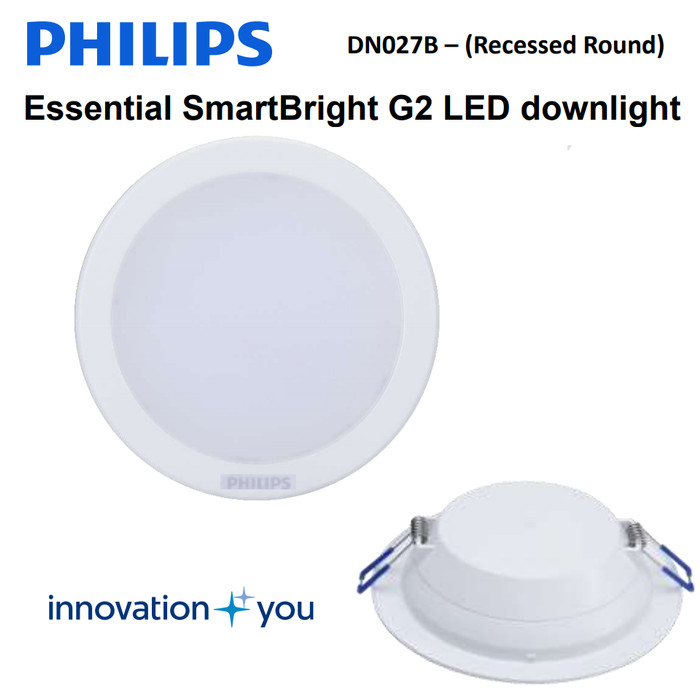 "Foto Produk Philips LED Downlight DN027B 7W 5"" - 5 Inch Lampu Plafon dari philipslampu"