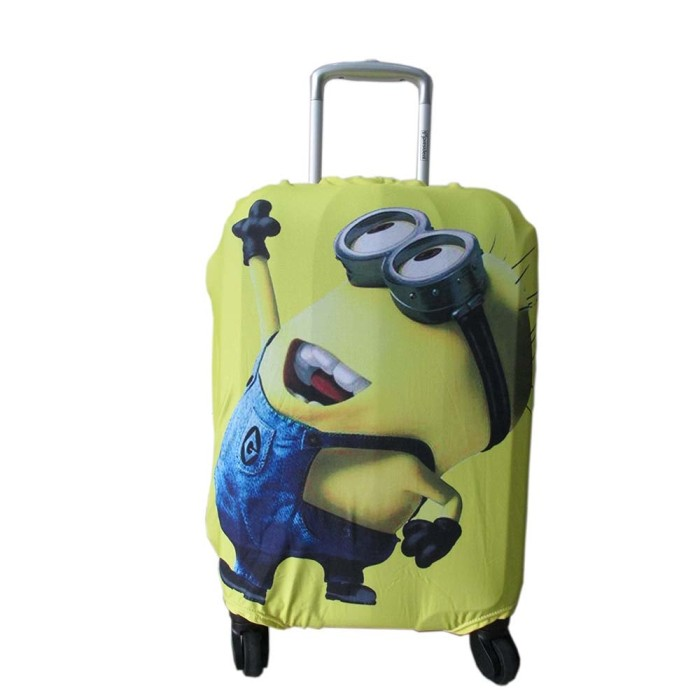 Cover Koper Magic Elastic Luggage Size 18-20 Inch Motif Cartoon bawah
