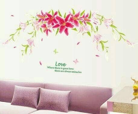 jual stiker dinding /wall sticker dapur kamar anak wanita love lily