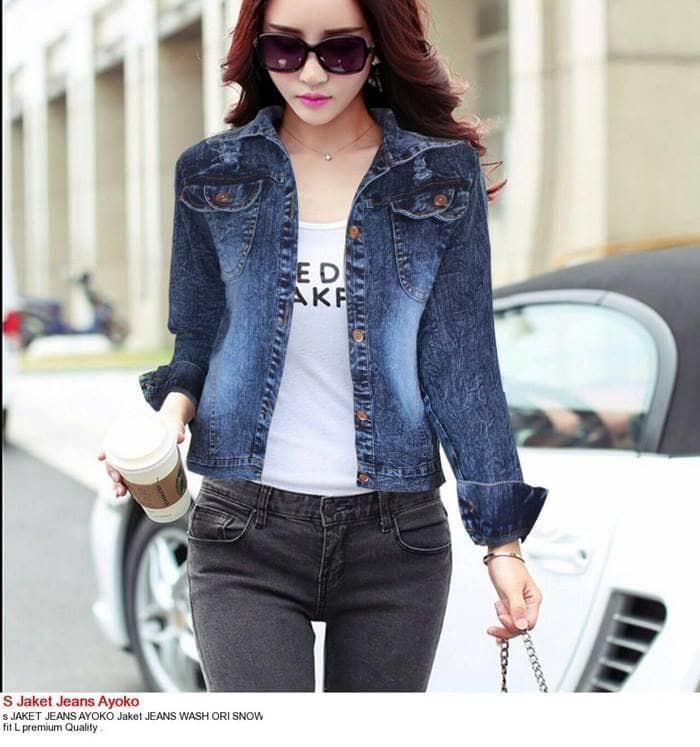 730+ Model Jaket Jeans Terbaru Untuk Wanita Gratis