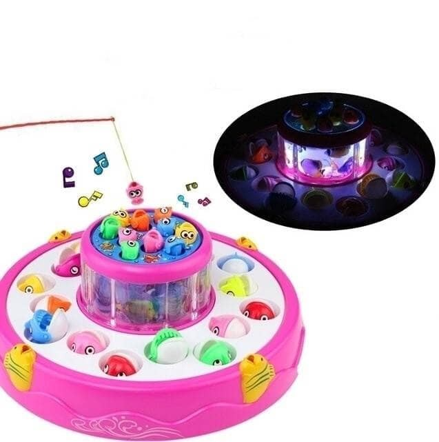 ... harga Mainan anak pancing memancing ikan fishing game baterai 2 kolam 4 kail Tokopedia com