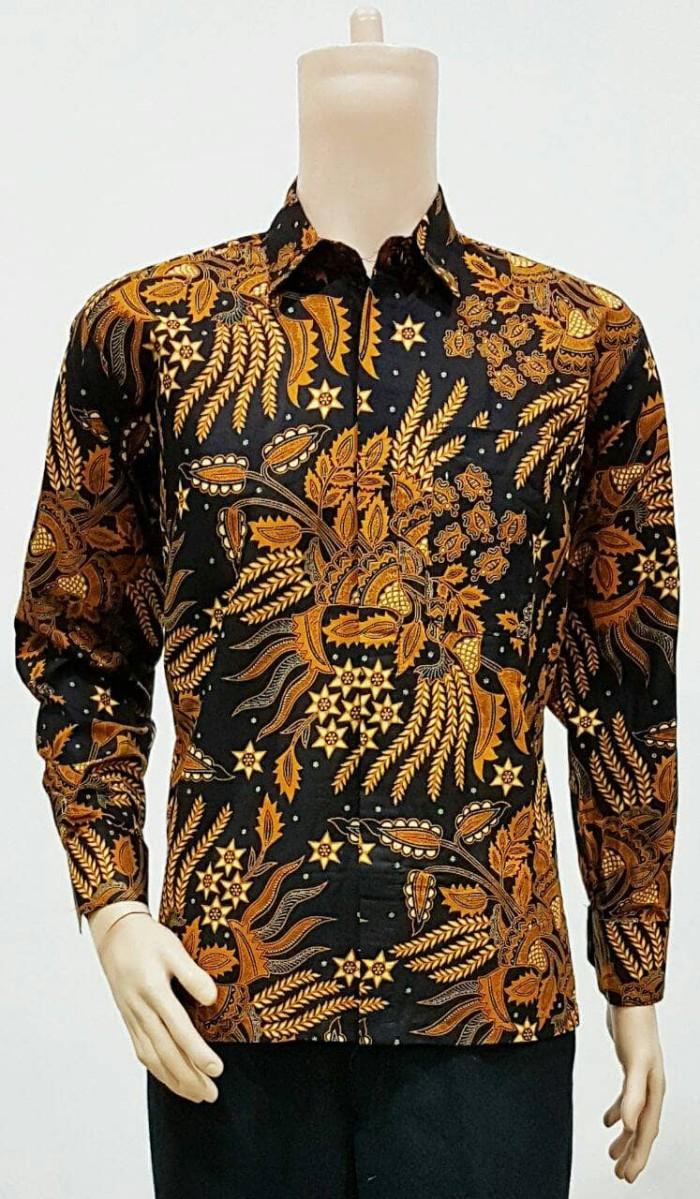 44 Gambar Baju Batik Pria Solo Lengan Panjang Kekinian