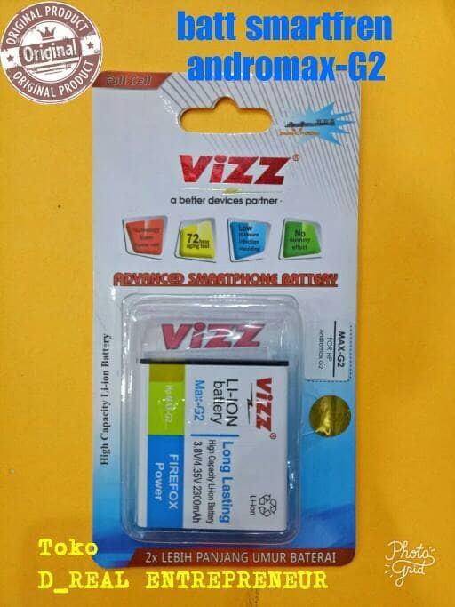 Battery baterai batre double power VIZZ smartfren andromax G2