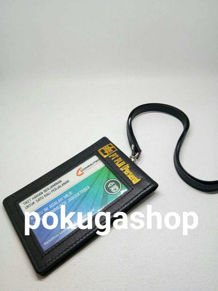 harga Nametag kulit pln gold / name tag kulit + tali kulit / id card holder Tokopedia.com