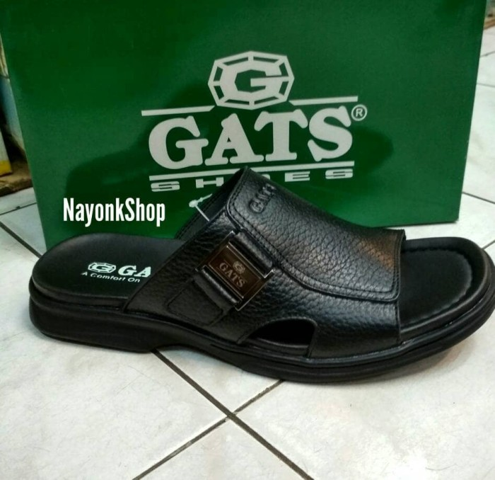 sandal kulit gats or 611 black original
