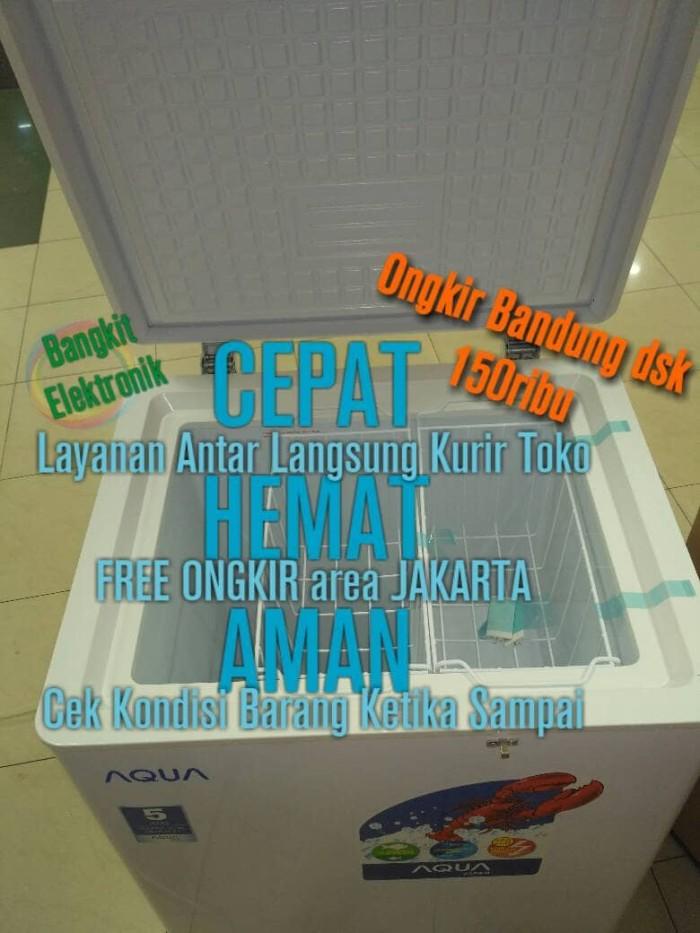 harga Aqf-100w chest freezer box aqua 100 liter Tokopedia.com