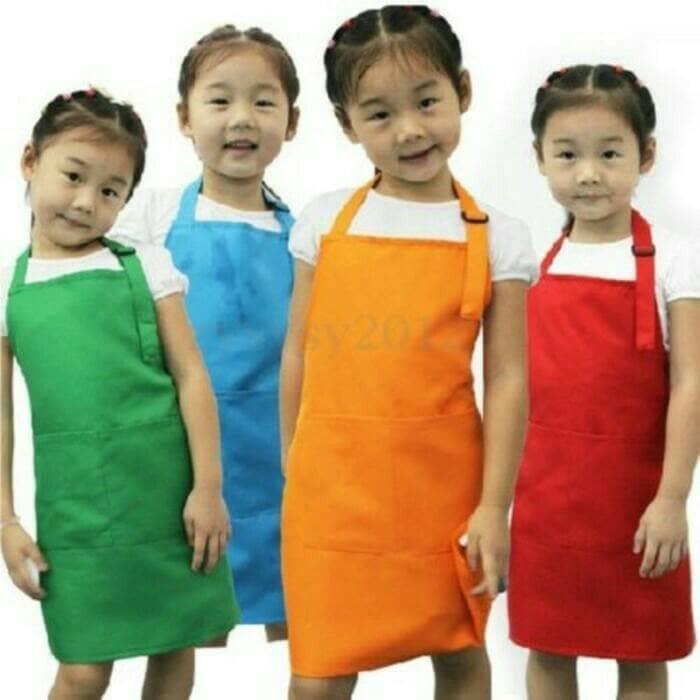 harga Celemek anak/celemek/apron/appron anak/baju koki/kids appron/chef/koki Tokopedia.com