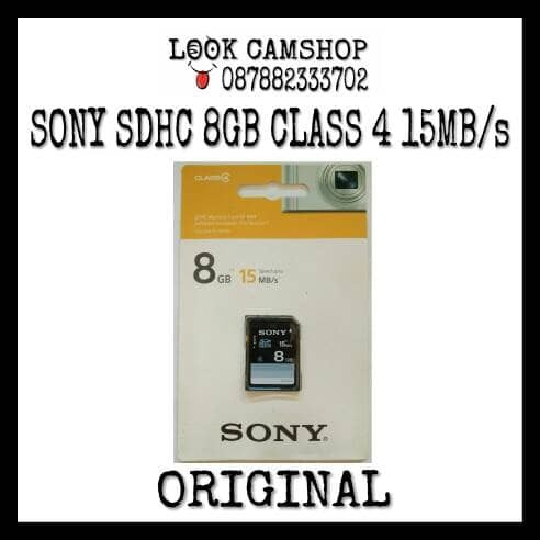 harga Memory card sony sdhc sd 8gb class4 class 4 c4 15mb/s - original ori Tokopedia.com