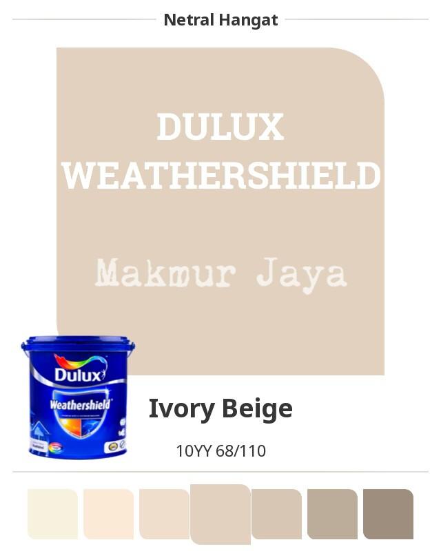 Jual Dulux Weathershield Ivory Beige Cat Tembok Eksterior