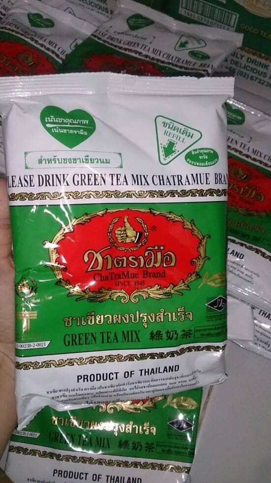 THAI TEA GREEN TEA NUMBER ONE CHATRAMUE BRAND/TEH THAILAND 200gr