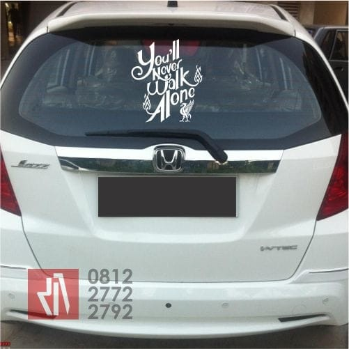 Foto Produk cutting sticker mobil you never walk alone liverpool stiker klub bola dari MANGELE STICKER PRO